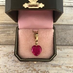 Juicy Couture Pink Heart Gemstone Charm Pendant